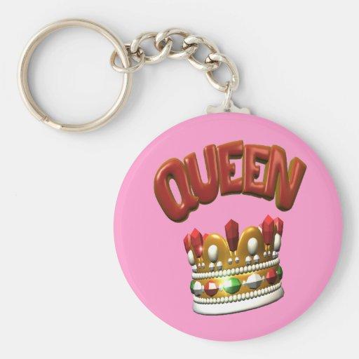 queen.crown basic round button keychain