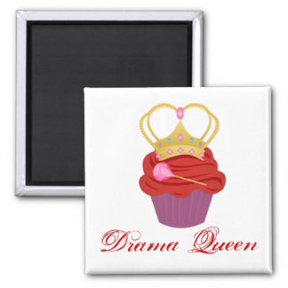 Queen Cupcake 2 Inch Square Magnet