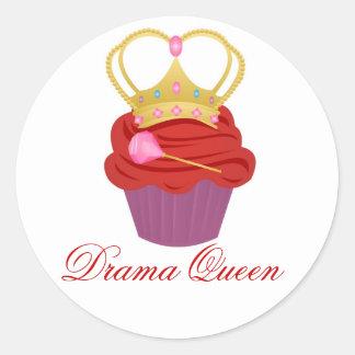 Queen Cupcake Classic Round Sticker