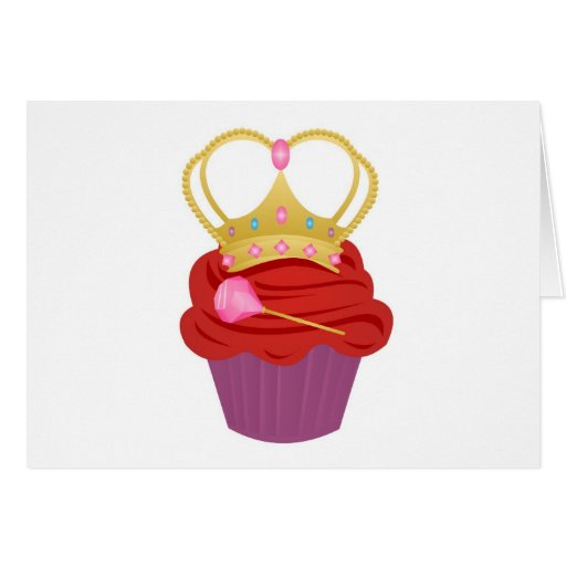 Queen Cupcake Greeting Card