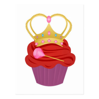 Queen Cupcake Postcard