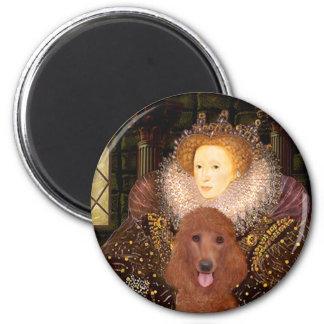 Queen - Dark Red Standard Poodle #1 2 Inch Round Magnet