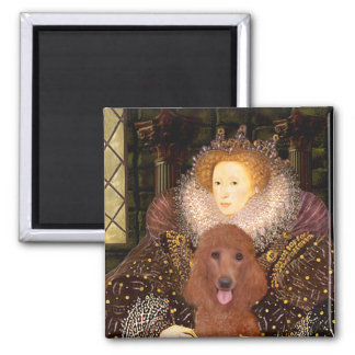 Queen - Dark Red Standard Poodle #1 2 Inch Square Magnet