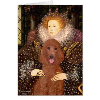 Queen - Dark Red Standard Poodle #1 Card