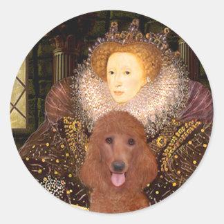 Queen - Dark Red Standard Poodle #1 Classic Round Sticker
