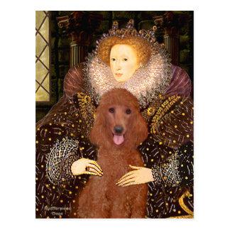 Queen - Dark Red Standard Poodle #1 Postcard