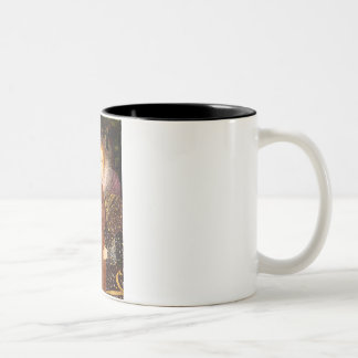 Queen - Dark Red Standard Poodle #1 Two-Tone Coffee Mug