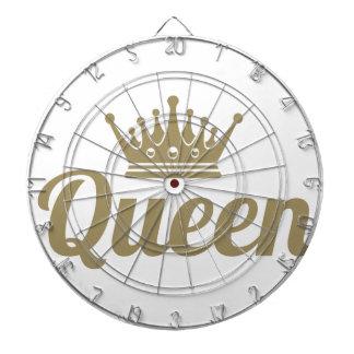 Queen Dartboard With Darts