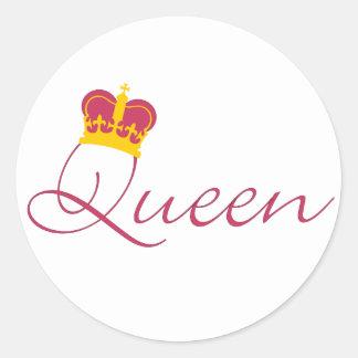 Queen Design Classic Round Sticker
