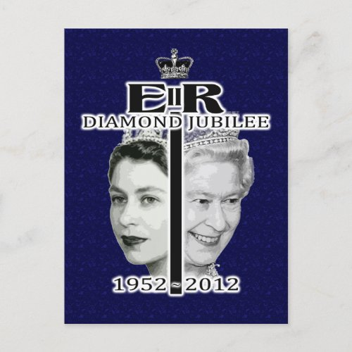 Queen Diamond Jubilee Postcard postcards