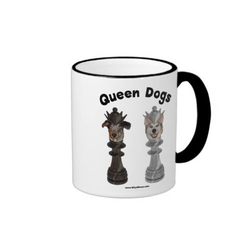 Queen Dogs Chess Ringer Coffee Mug