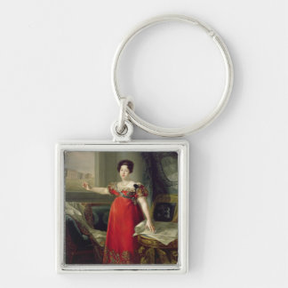 Queen Dona Maria Isabel de Braganza, 1829 (oil on Keychain