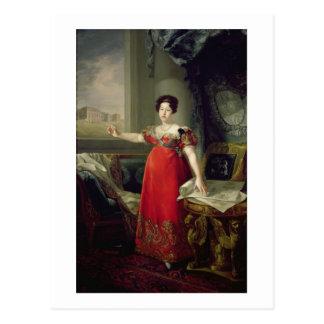 Queen Dona Maria Isabel de Braganza, 1829 (oil on Postcard