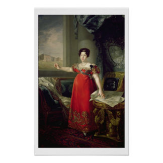Queen Dona Maria Isabel de Braganza, 1829 (oil on Poster