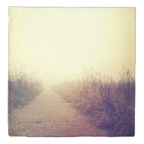 Queen Duvet Cover Sunrise Pathway Walkway Path Sid