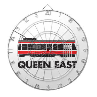 Queen East (Toronto) and Streetcar Dartboard With Darts