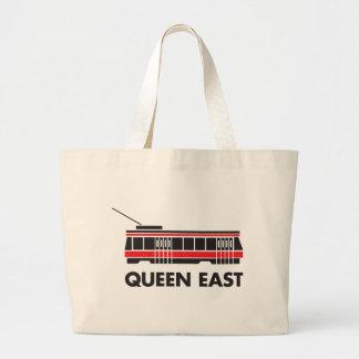 Queen East (Toronto) and Streetcar Jumbo Tote Bag