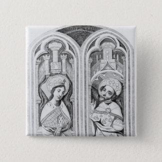 Queen Eleanor and Henry III, taken ancient Button