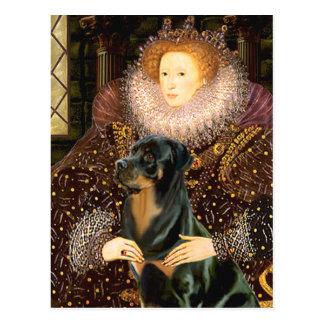 Queen Elizaabeth I - Rottweiler Postcard
