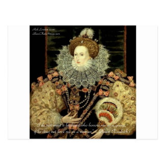 Queen Elizabeth 1 Love/Honour Love Quote Gifts Postcard
