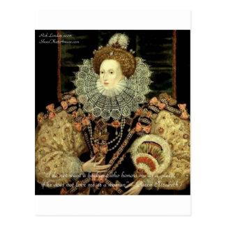 Queen Elizabeth 1 Love/Honour Love Quote Gifts Postcard