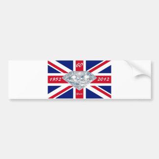 Queen Elizabeth 60 Year Jubilee Bumper Sticker