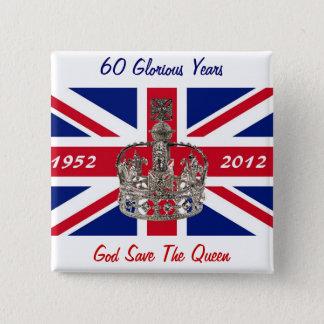 Queen Elizabeth 60 Year Jubilee Button