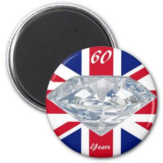 Queen Elizabeth 60 Year Jubilee 2 Inch Round Magnet