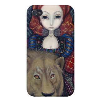 """Queen Elizabeth and a Lion"" iPhone 4 Case"