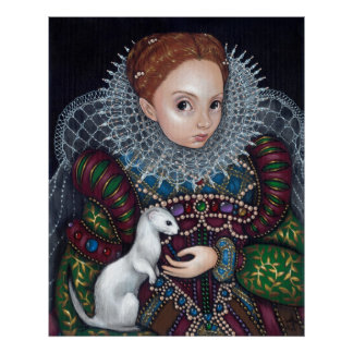 Queen Elizabeth and an Ermine Art Print tudor