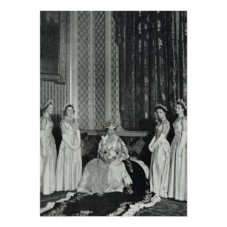 Queen Elizabeth and her attendants Poster