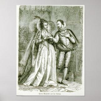 Queen Elizabeth and her Suitors Poster