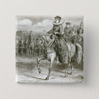 Queen Elizabeth at Tilbury Pinback Button