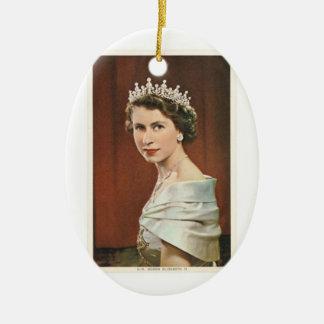 Queen Elizabeth Ceramic Ornament