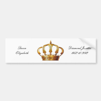 Queen Elizabeth Crown Bumper Sticker