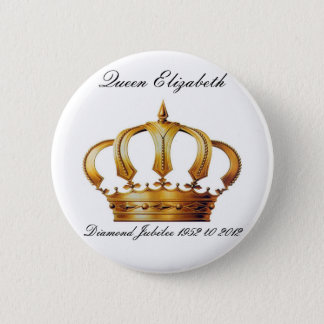 Queen Elizabeth Crown Button