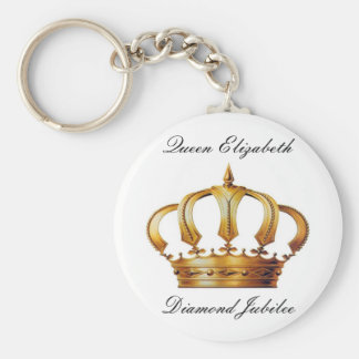 Queen Elizabeth Crown Keychain