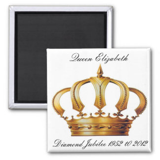 Queen Elizabeth Crown  Magnet Magnet