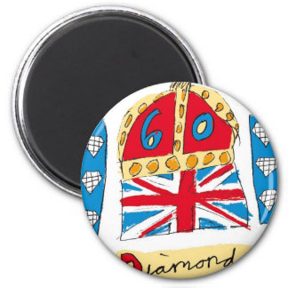 queen elizabeth diamond jubilee 2012 2 inch round magnet
