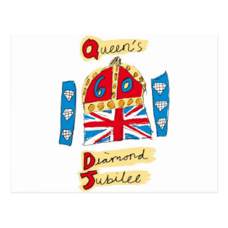 queen elizabeth diamond jubilee 2012 postcard