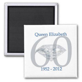 Queen Elizabeth Diamond Jubilee 2 Inch Square Magnet