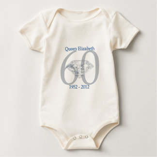 Queen Elizabeth Diamond Jubilee Baby Bodysuit