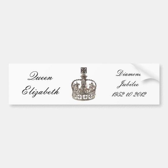 Queen Elizabeth Diamond Jubilee bumper sticker