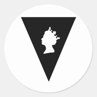queen elizabeth diamond jubilee classic round sticker
