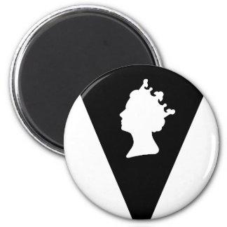 queen elizabeth diamond jubilee 2 inch round magnet