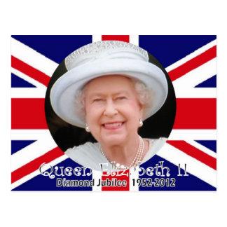 Queen Elizabeth Diamond Jubilee portrait postcard
