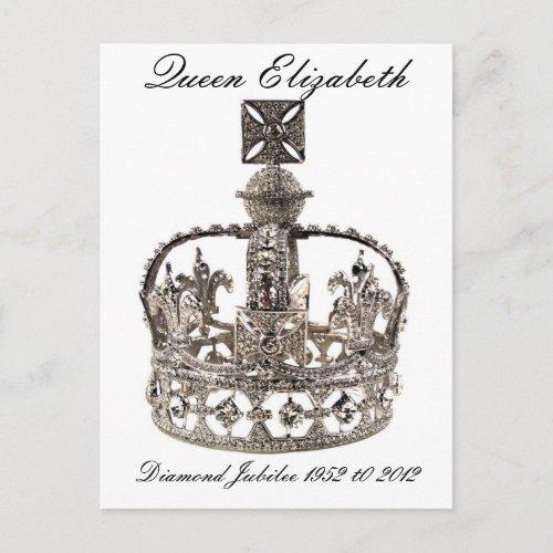 Queen Elizabeth Diamond Jubilee Postcard postcards