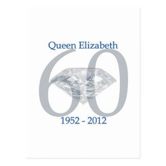 Queen Elizabeth Diamond Jubilee Postcard