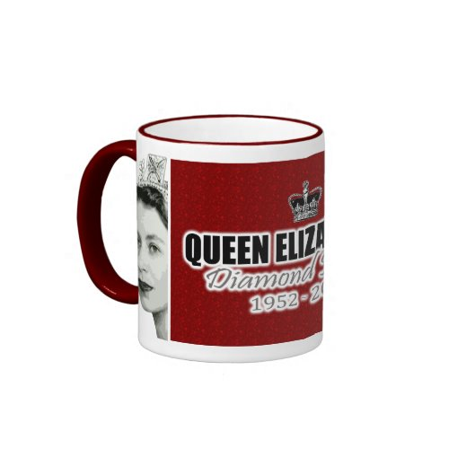 Queen Elizabeth Diamond Jubilee Red Mug mugs