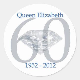 Queen Elizabeth Diamond Jubilee Stickers